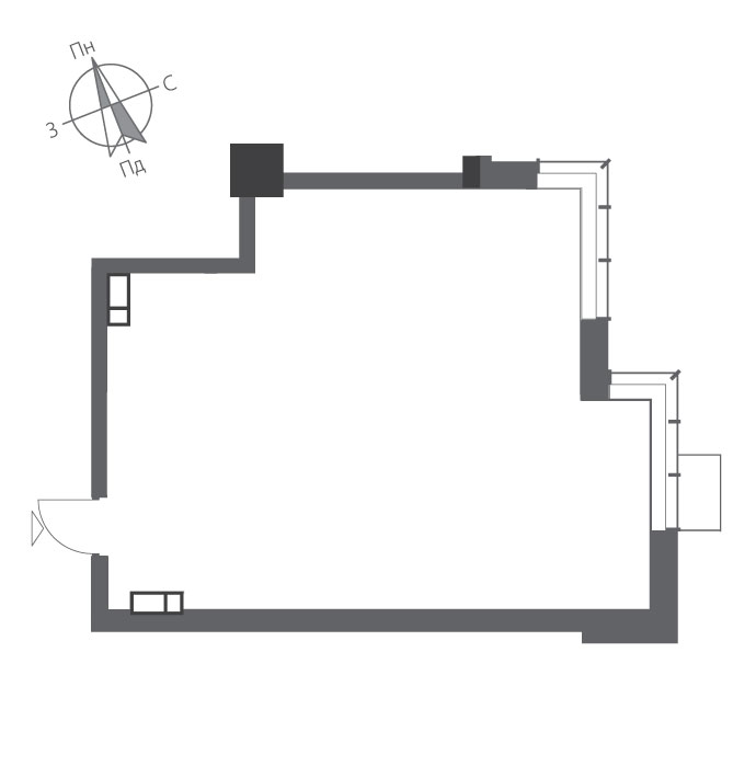 Однокімнатна квартира в ЖК RiverStone Номер квартири №7, Будинок 7, Поверх 7, Повна площа 57,32