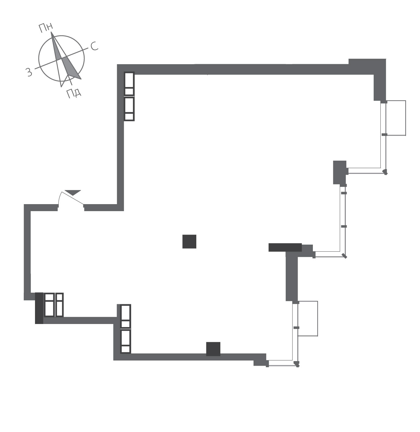 Двухкомнатная квартира в ЖК RiverStone Номер квартиры №23, Дом 8, Этаж 23, Полная площадь 89,02
