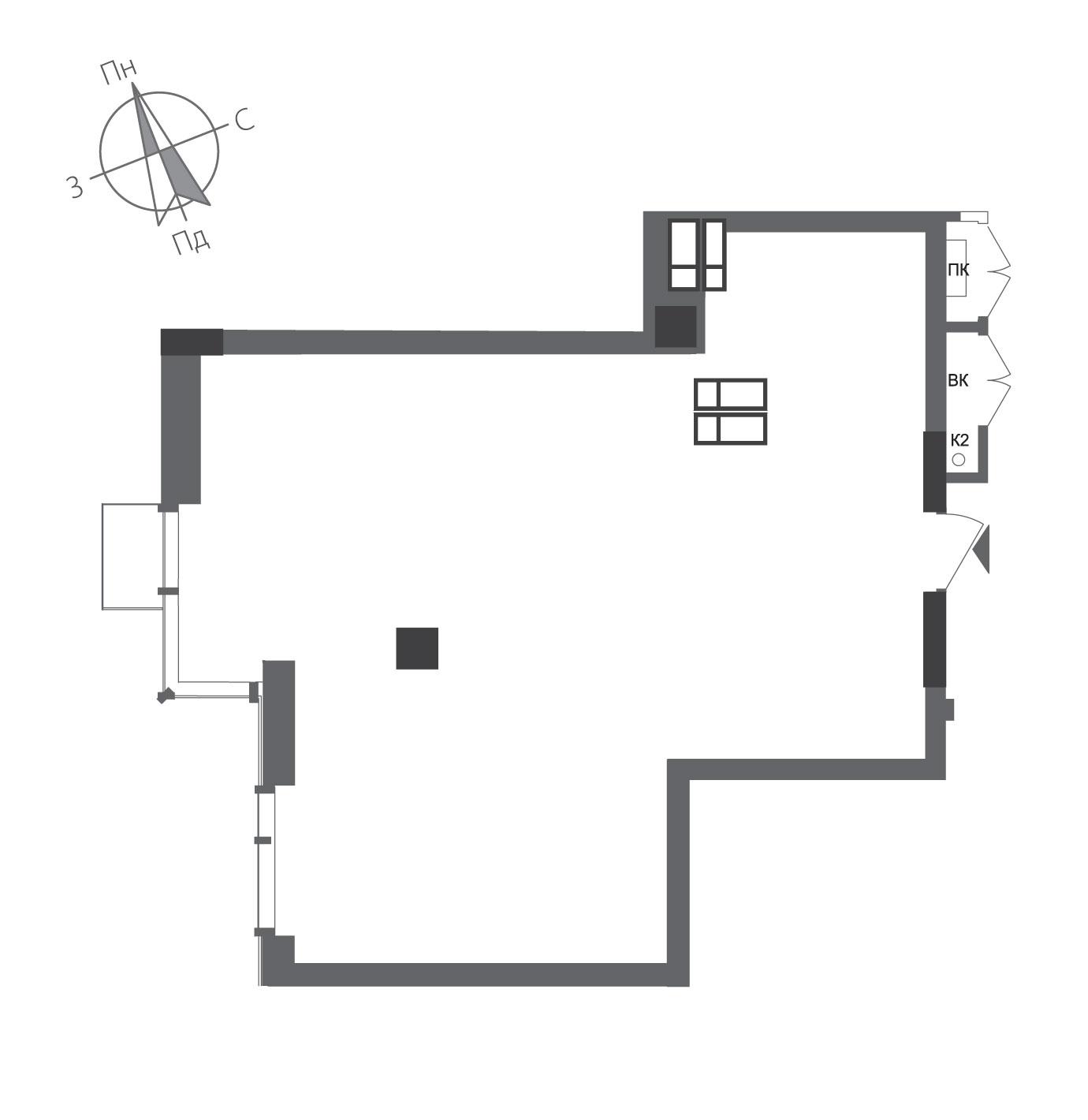 Однокомнатная квартира в ЖК RiverStone Номер квартиры №23, Дом 8, Этаж 23, Полная площадь 58,74