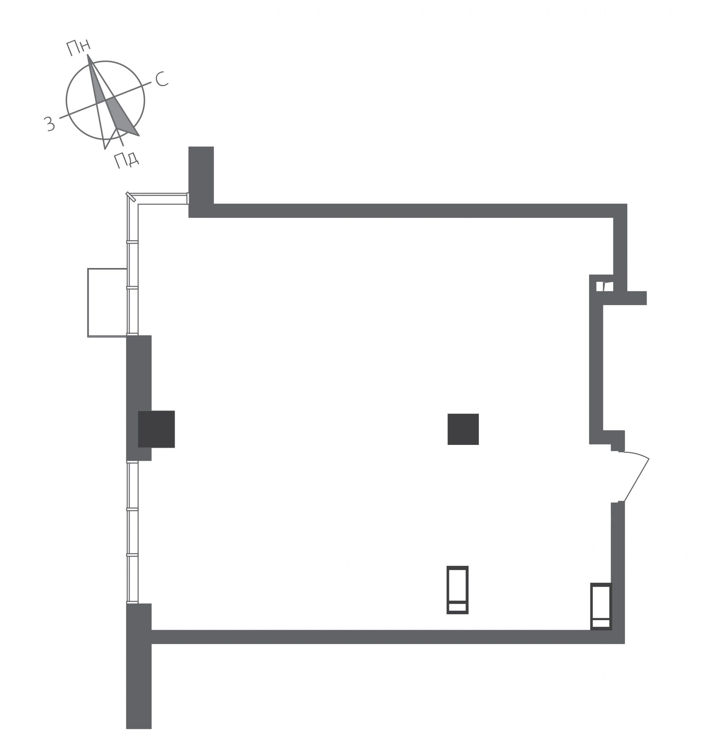Однокімнатна квартира в ЖК RiverStone Номер квартири №15, Будинок 9, Поверх 15, Повна площа 66,88