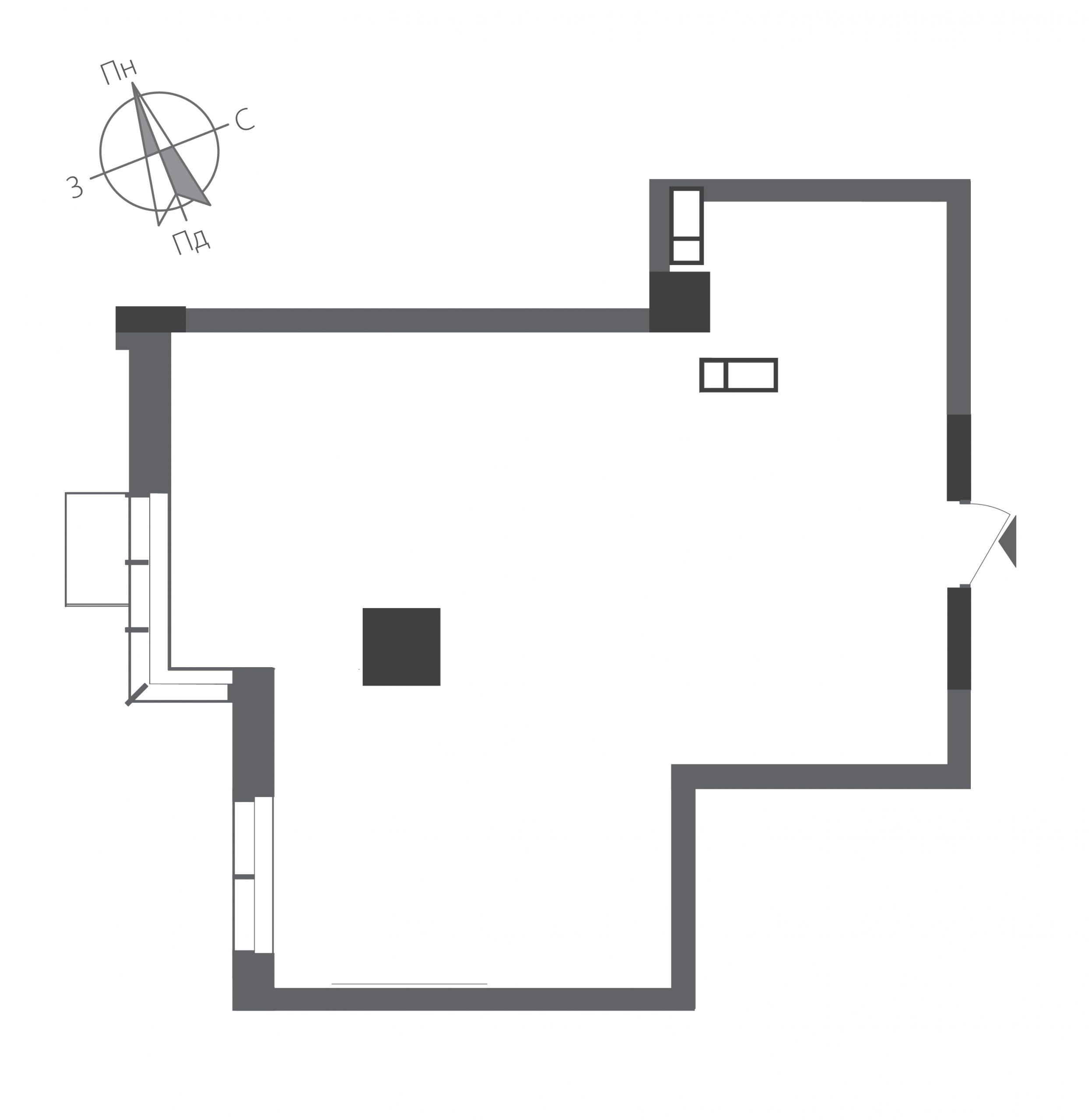 Однокімнатна квартира в ЖК RiverStone Номер квартири №10, Будинок 9, Поверх 10, Повна площа 57,38
