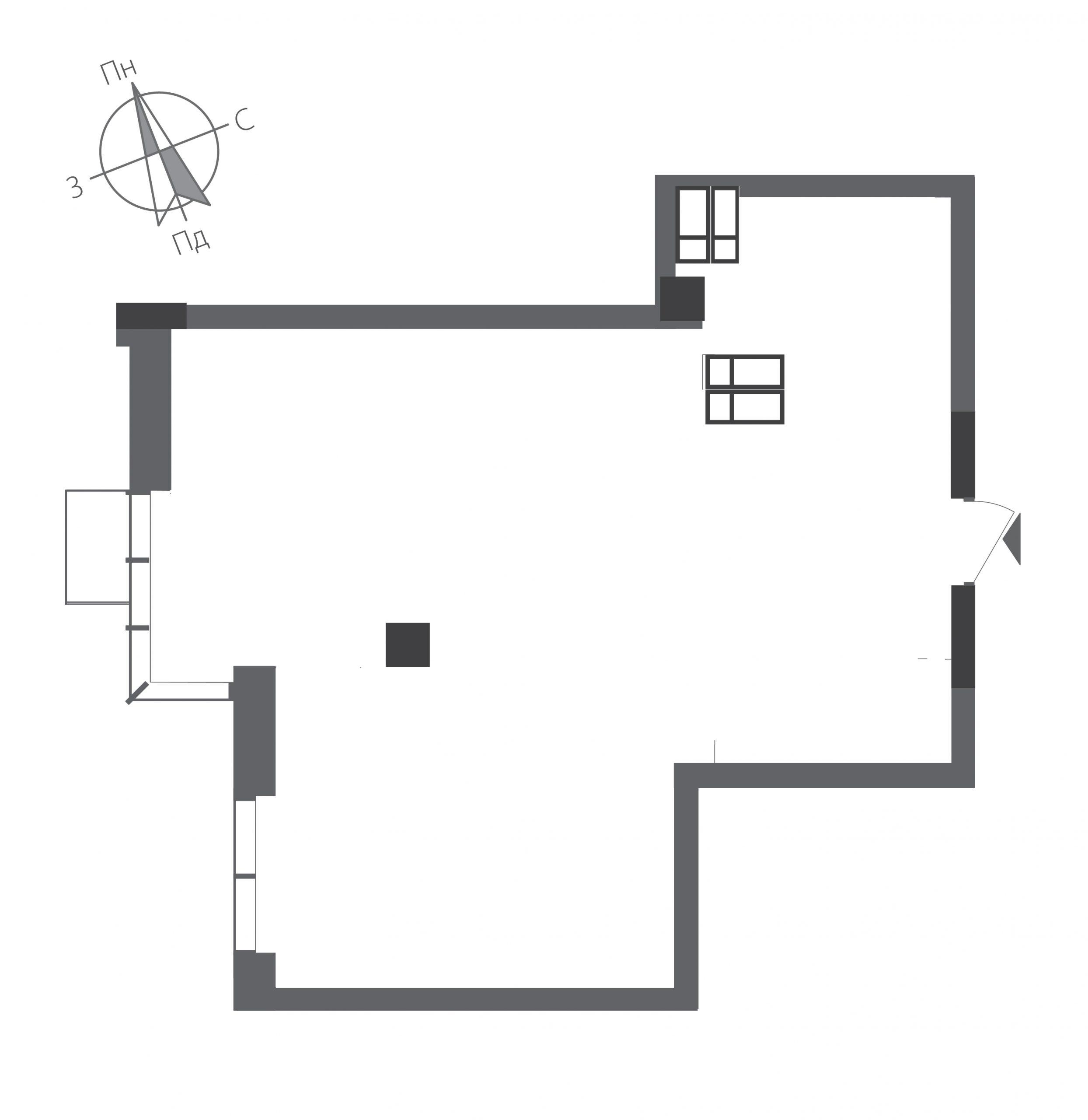 Однокімнатна квартира в ЖК RiverStone Номер квартири №21, Будинок 9, Поверх 21, Повна площа 58,52